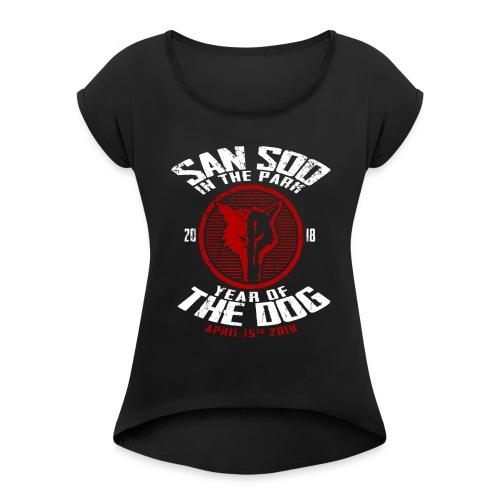 San Soo in the Park 2018 - Women's Roll Cuff T-Shirt