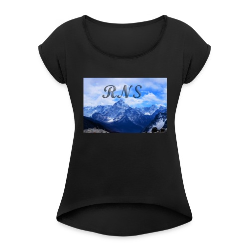 RNS in the clouds - Women's Roll Cuff T-Shirt