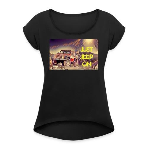 Jeepon1 - Women's Roll Cuff T-Shirt