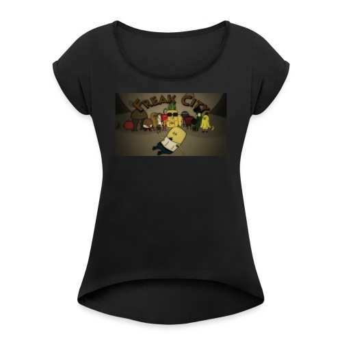 Freak City Characters - Women's Roll Cuff T-Shirt