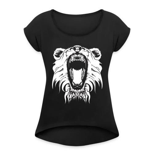 Lion - Women's Roll Cuff T-Shirt