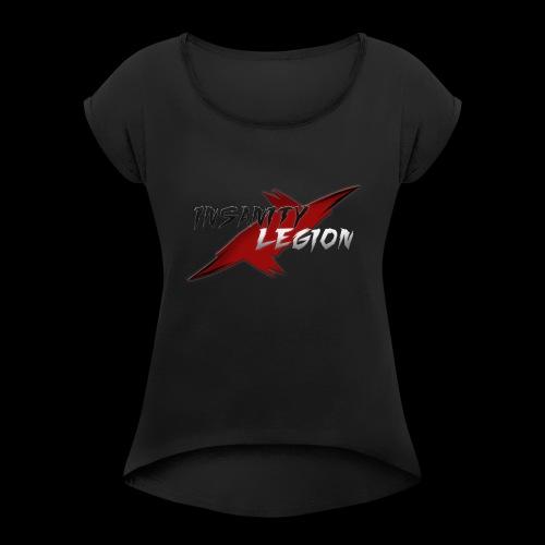 Insanity Legion Logo - Women's Roll Cuff T-Shirt