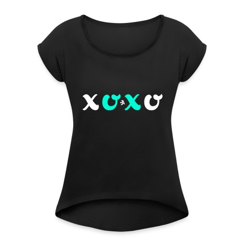 JordynAmber - XOXO Design - Women's Roll Cuff T-Shirt
