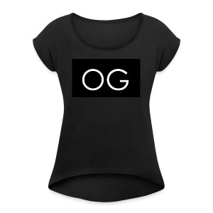 OG design black - Women's Roll Cuff T-Shirt