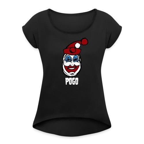 POGO The Clown - Women's Roll Cuff T-Shirt