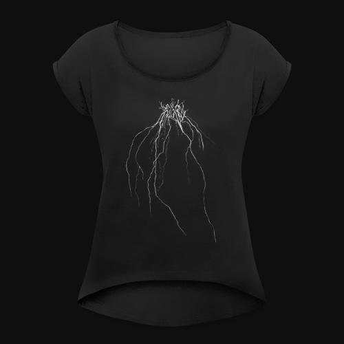 Melanohelios Logo - Women's Roll Cuff T-Shirt