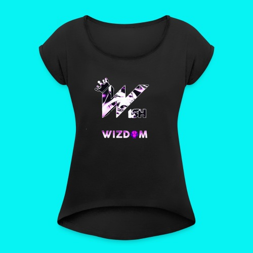 Wizdom 2.0 Logo - Women's Roll Cuff T-Shirt