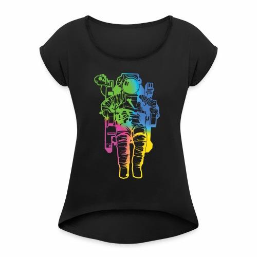 Spaceman - Women's Roll Cuff T-Shirt