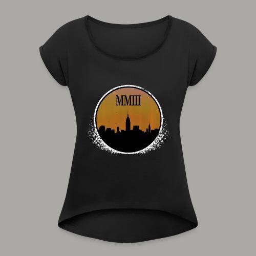Blackout (Weathered) - Women's Roll Cuff T-Shirt