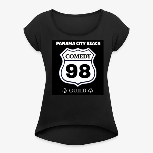 Black98comedy - Women's Roll Cuff T-Shirt