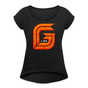 GG_Lad Logo - Women's Roll Cuff T-Shirt