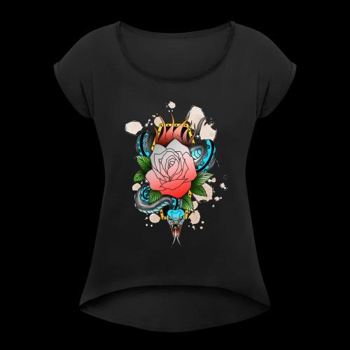 Slither - Women's Roll Cuff T-Shirt