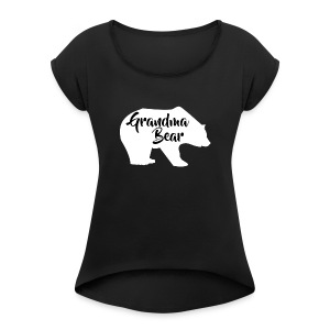 Grandma Bear - Women's Roll Cuff T-Shirt