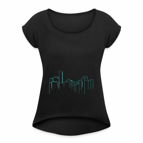 Cityscape - Women's Roll Cuff T-Shirt