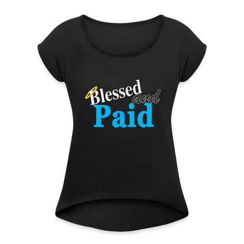 Baby Blue Angel - Women's Roll Cuff T-Shirt