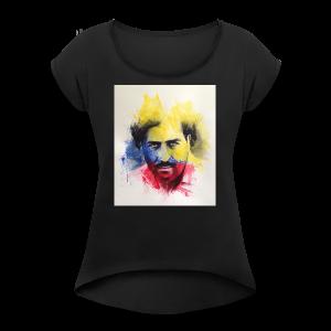 Pablo Escobar P - Women's Roll Cuff T-Shirt