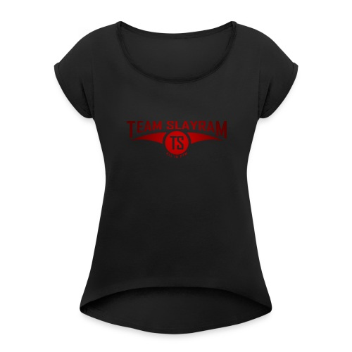 Club logo - Women's Roll Cuff T-Shirt