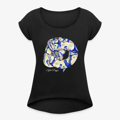Monty the Ball Python - Women's Roll Cuff T-Shirt