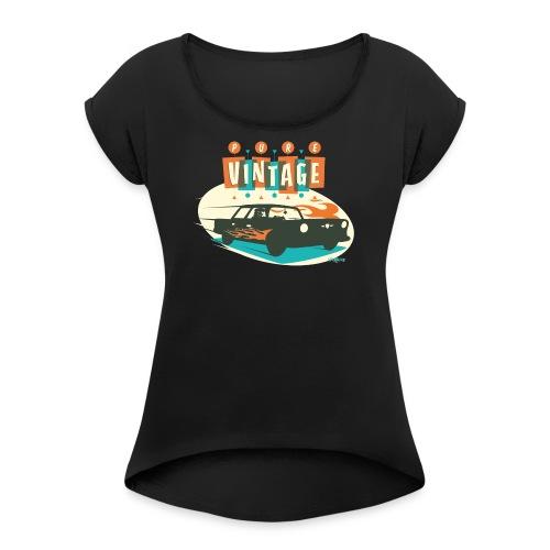 Vintage car - Women's Roll Cuff T-Shirt