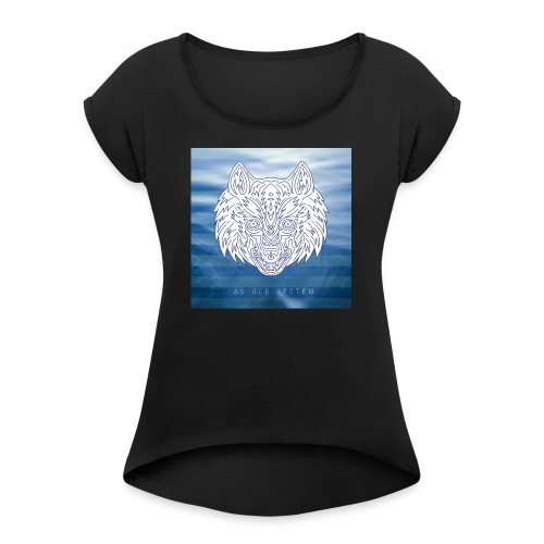 An Old System Album Cover - Women's Roll Cuff T-Shirt