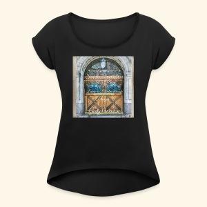 Shut the Front Door Let's Pray ! - Women's Roll Cuff T-Shirt