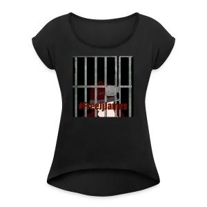 FreeJjjames Tv - Women's Roll Cuff T-Shirt