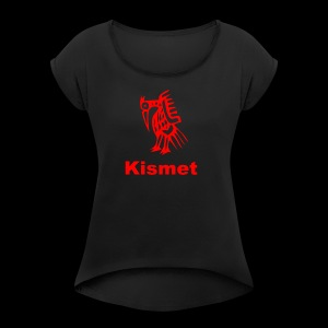 Kismet Thanksgiving design - Women's Roll Cuff T-Shirt
