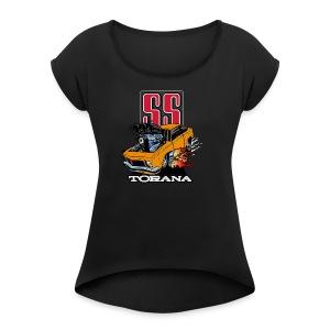 Holden T Shirt Torana LX SS Hatch Colour - Women's Roll Cuff T-Shirt