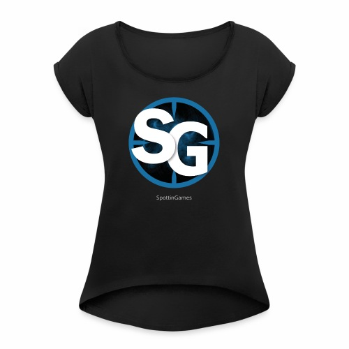 SpottinGames logo - Women's Roll Cuff T-Shirt