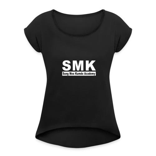 kumdoacademy front - Women's Roll Cuff T-Shirt