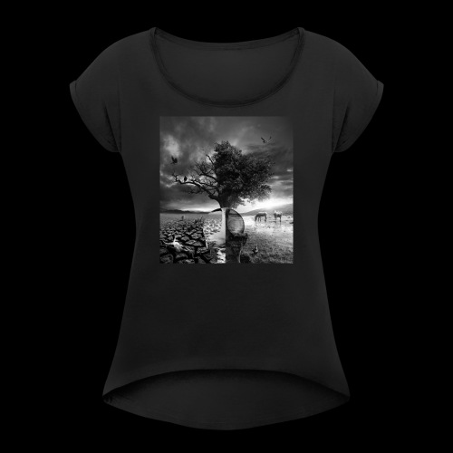 Life and Death - Women's Roll Cuff T-Shirt