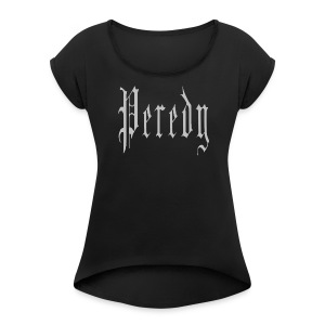 Peredy Logo Gray - Women's Roll Cuff T-Shirt