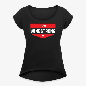WineStrong Logo - Women's Roll Cuff T-Shirt