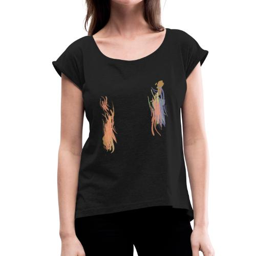 Color Brush - Women's Roll Cuff T-Shirt