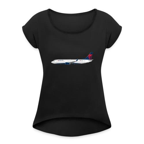 Delta Pooplines - Women's Roll Cuff T-Shirt