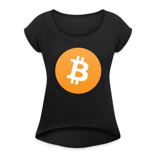 Bitcoin - Women's Roll Cuff T-Shirt