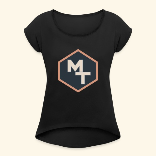 Maximum Tips Logo - Women's Roll Cuff T-Shirt