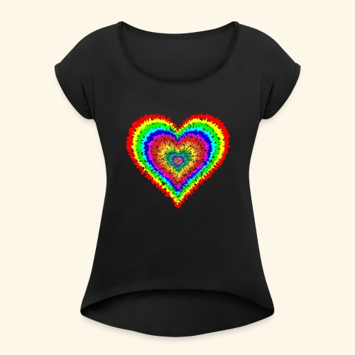 Tie Dye - Women's Roll Cuff T-Shirt