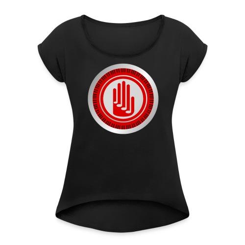 Costas Kletsidis YouTube Channel Logo - Women's Roll Cuff T-Shirt