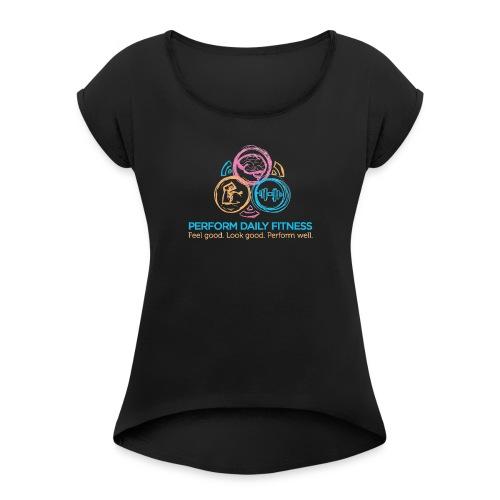 Sketch Logo - Women's Roll Cuff T-Shirt