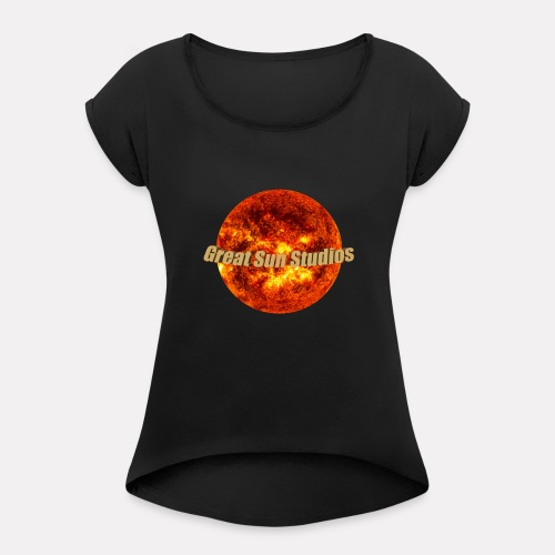 GreatSunStudios Logo - Women's Roll Cuff T-Shirt