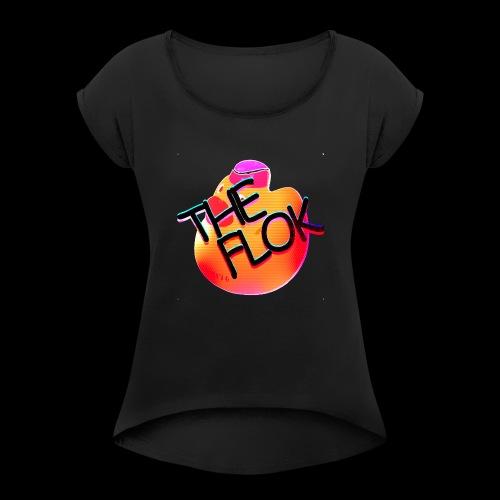 Flok OG Logo - Women's Roll Cuff T-Shirt