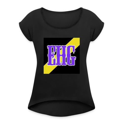 Eternal Hunter Gaming Logo - Women's Roll Cuff T-Shirt