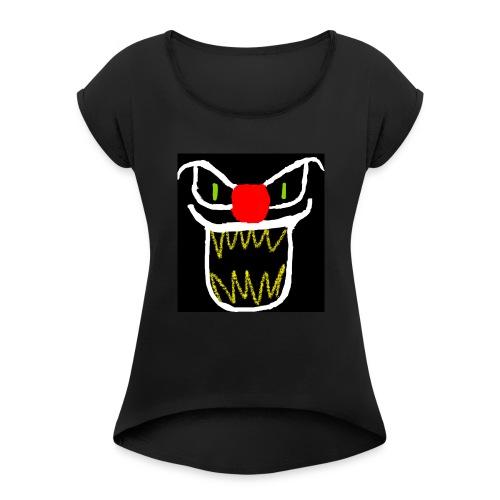 clownster - Women's Roll Cuff T-Shirt