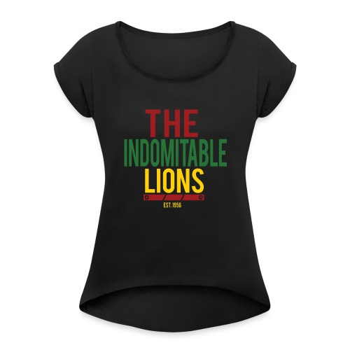 lion - Women's Roll Cuff T-Shirt