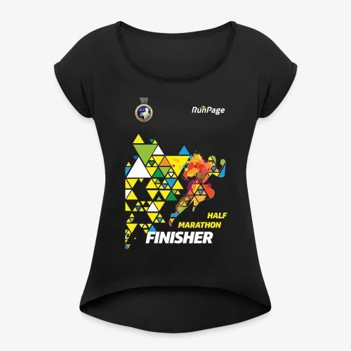 Half Marathon Finisher Shirt - Women's Roll Cuff T-Shirt