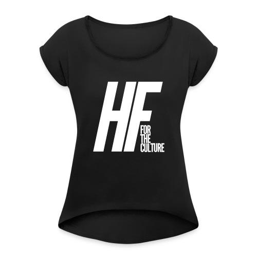 HoopFocus Original Logo - Women's Roll Cuff T-Shirt
