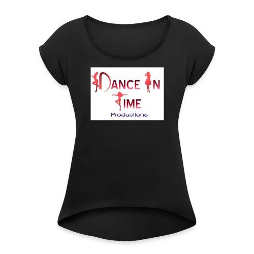 logoRonsPicture4WrdDocs9 14 - Women's Roll Cuff T-Shirt