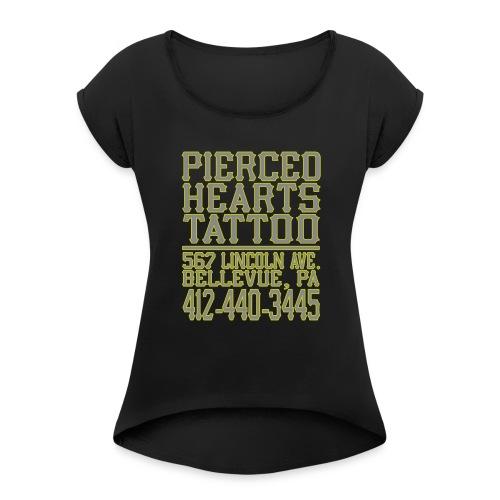 PHShirtBack1 - Women's Roll Cuff T-Shirt