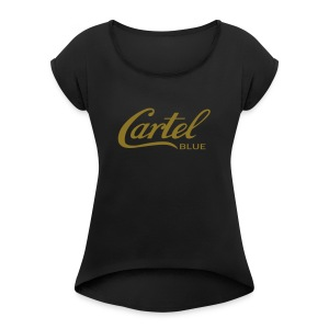 Cartel Blue Graphics - Women's Roll Cuff T-Shirt